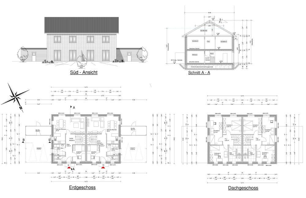 , Doppelhaus-Beispiel